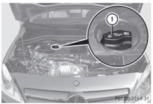 notice d 39 utilisation mercedes benz classe b huile moteur compartiment moteur maintenance. Black Bedroom Furniture Sets. Home Design Ideas