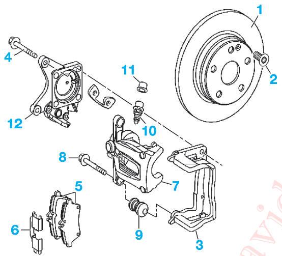 revue technique automobile mercedes benz classe b d pose repose d 39 un trier d 39 un disque de. Black Bedroom Furniture Sets. Home Design Ideas