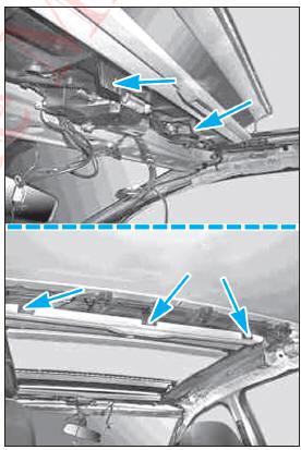 revue technique automobile mercedes benz classe b d pose repose de la garniture de pavillon. Black Bedroom Furniture Sets. Home Design Ideas
